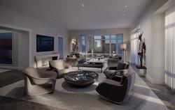 condo 1 - living room