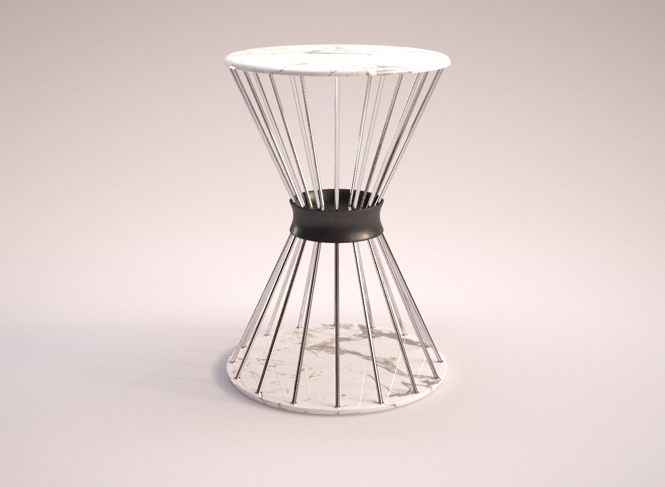 spoke side table