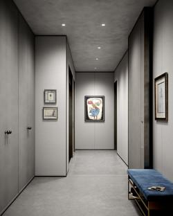 condo 3 - kitchen entry closets