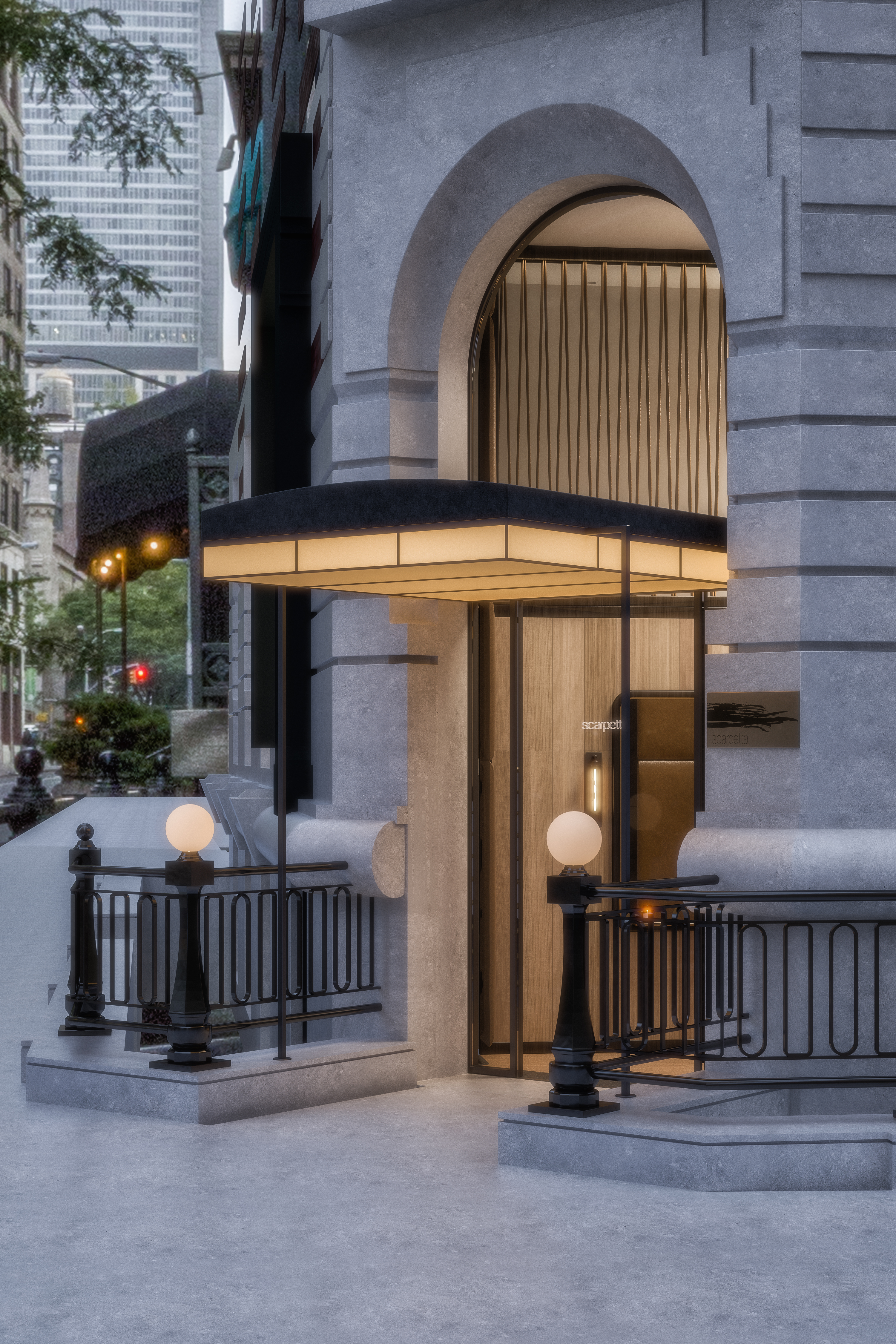 scarpetta nyc - entry canopy