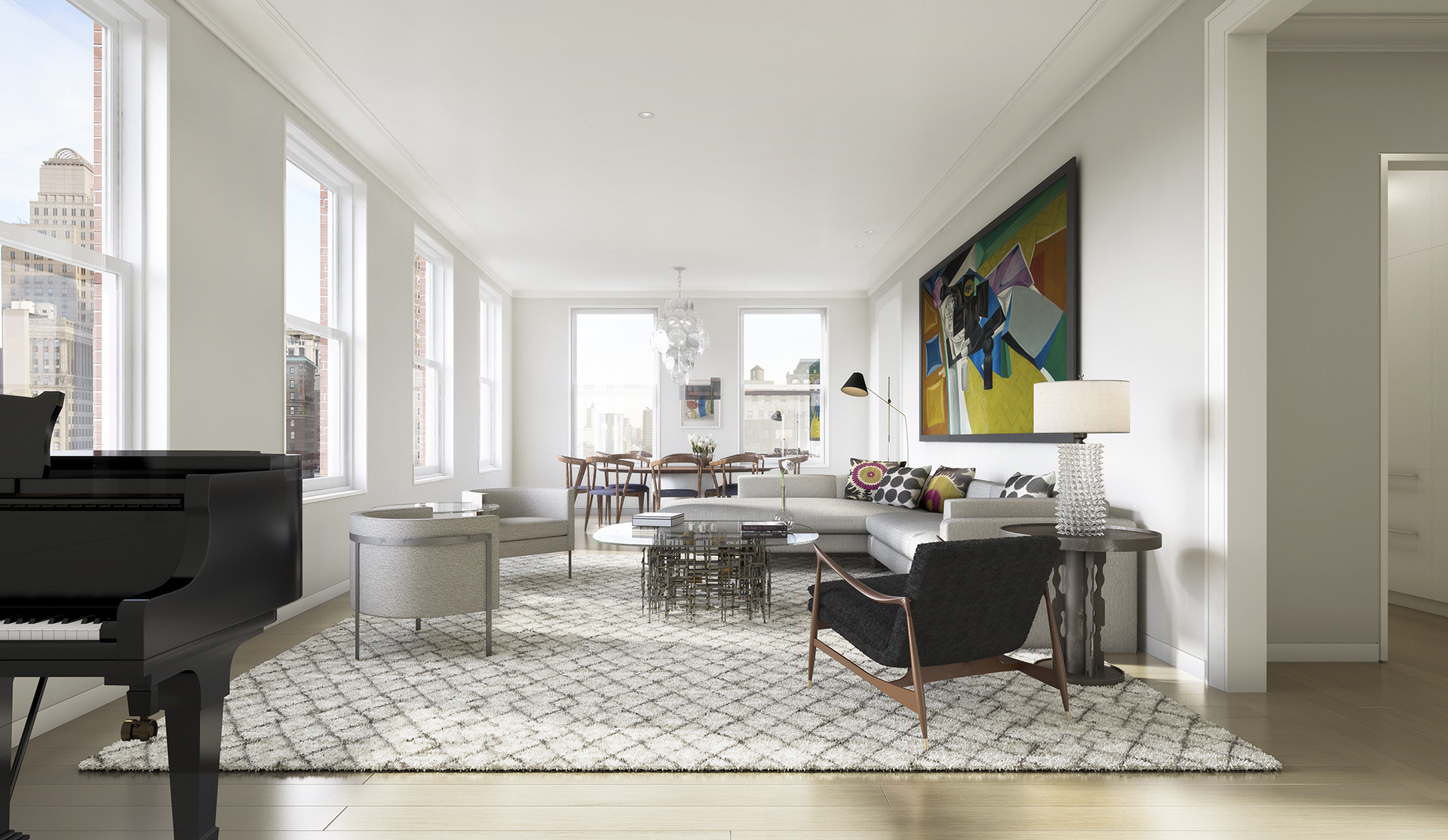 tribeca condos - living room