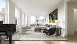 tribeca condos - living room