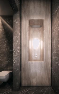 london condos - powder room