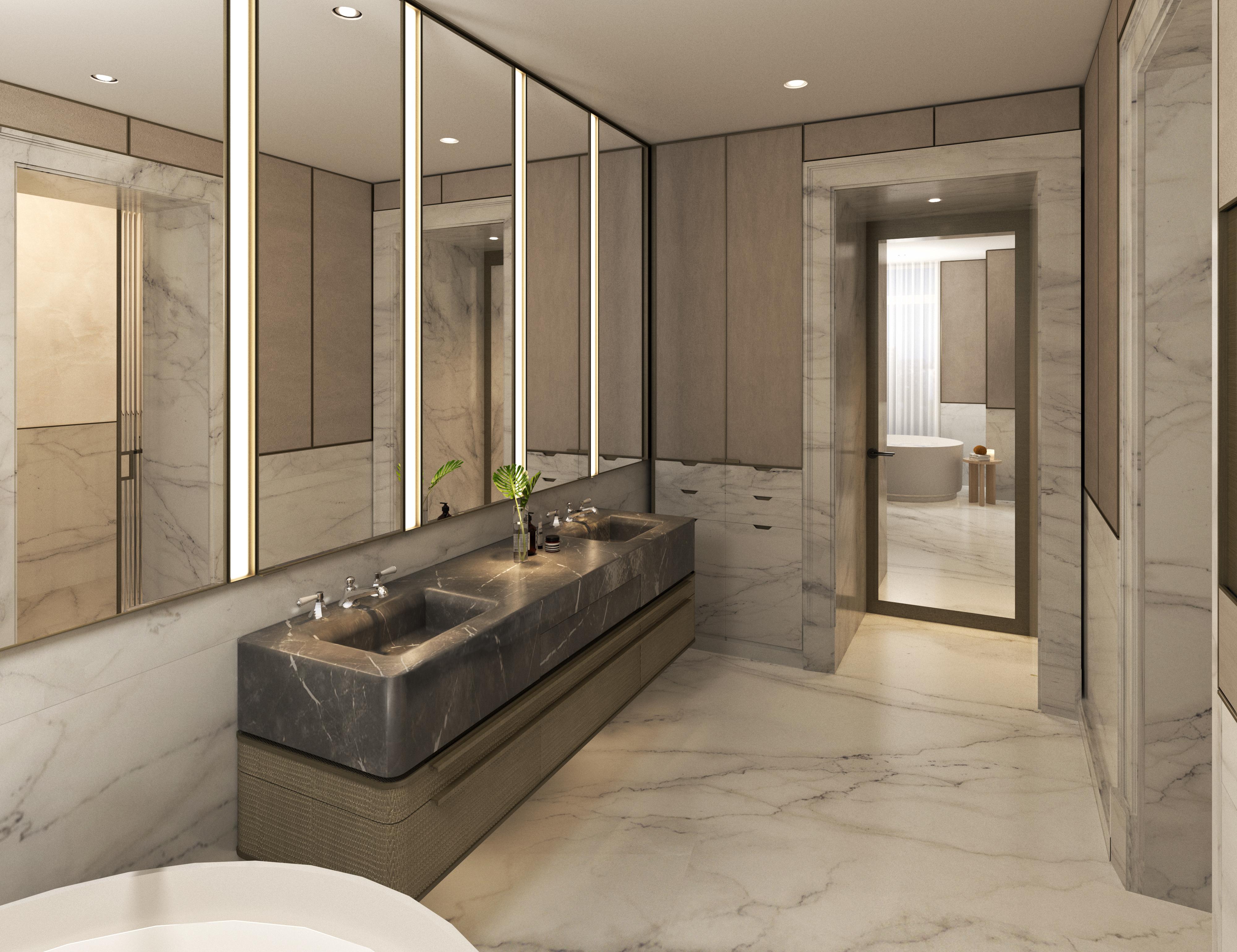 condo 1 - master bathroom (view 1)