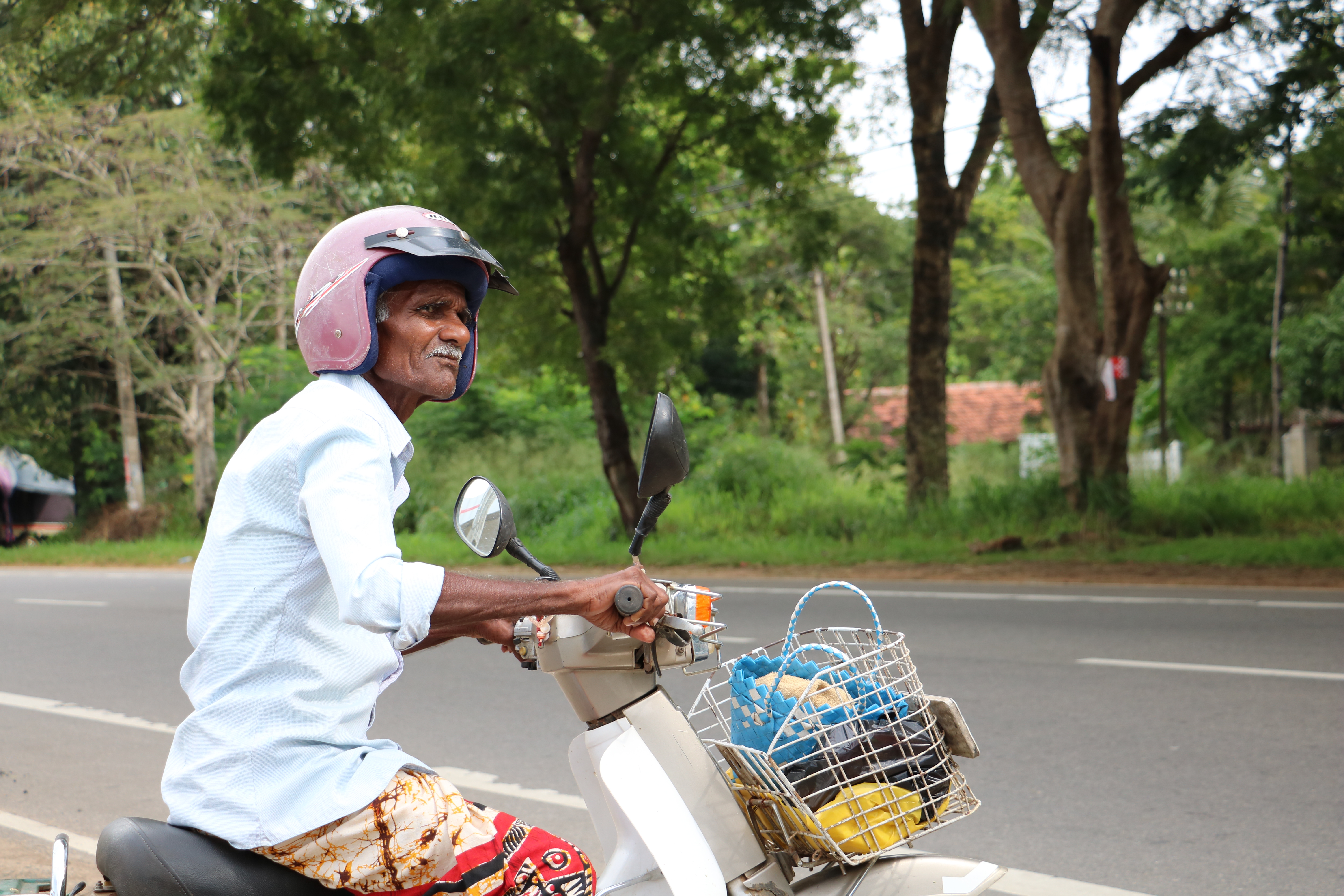 sri lanka motorcyclist