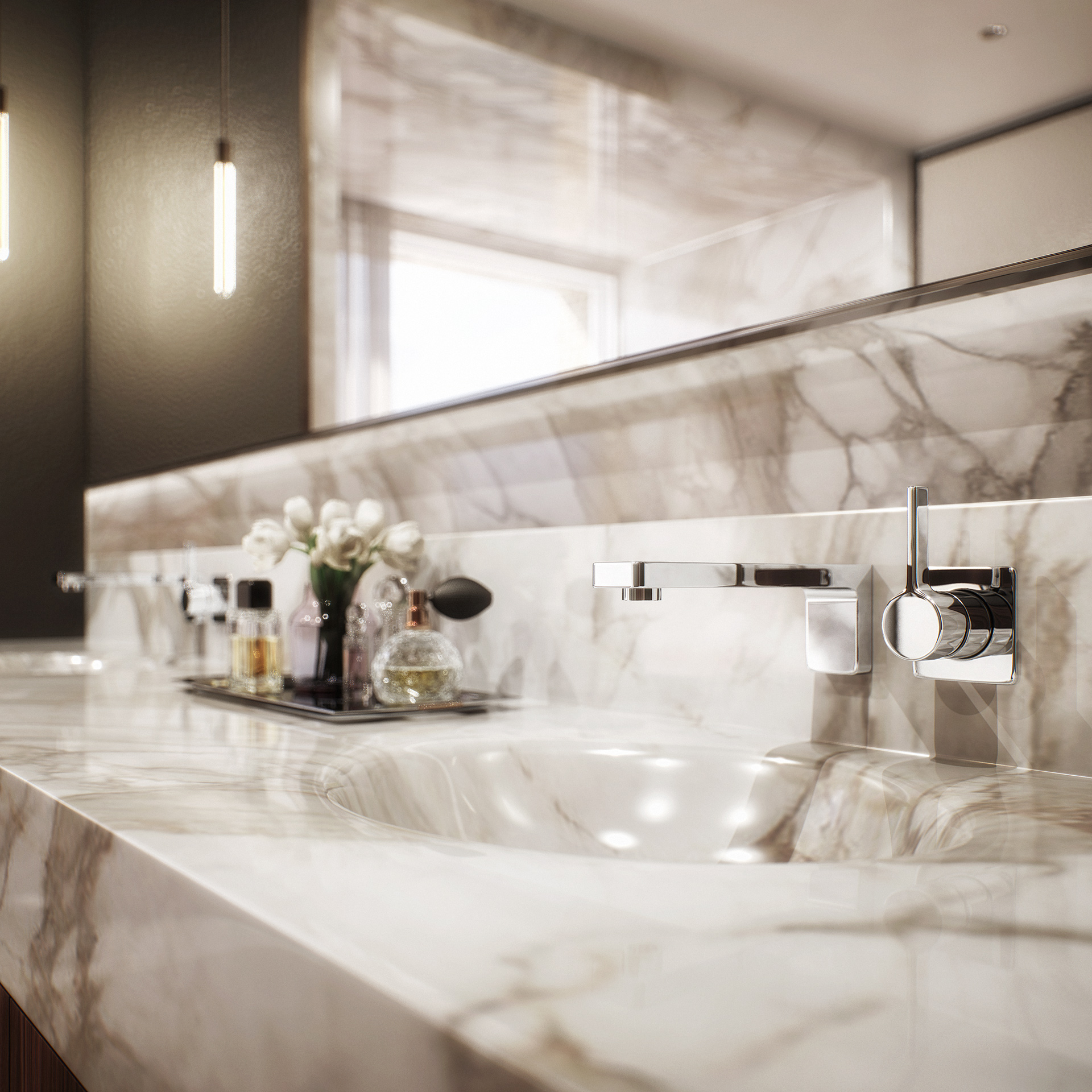 london condos - master bathroom detail