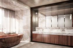 london condos - master bathroom (view 1)