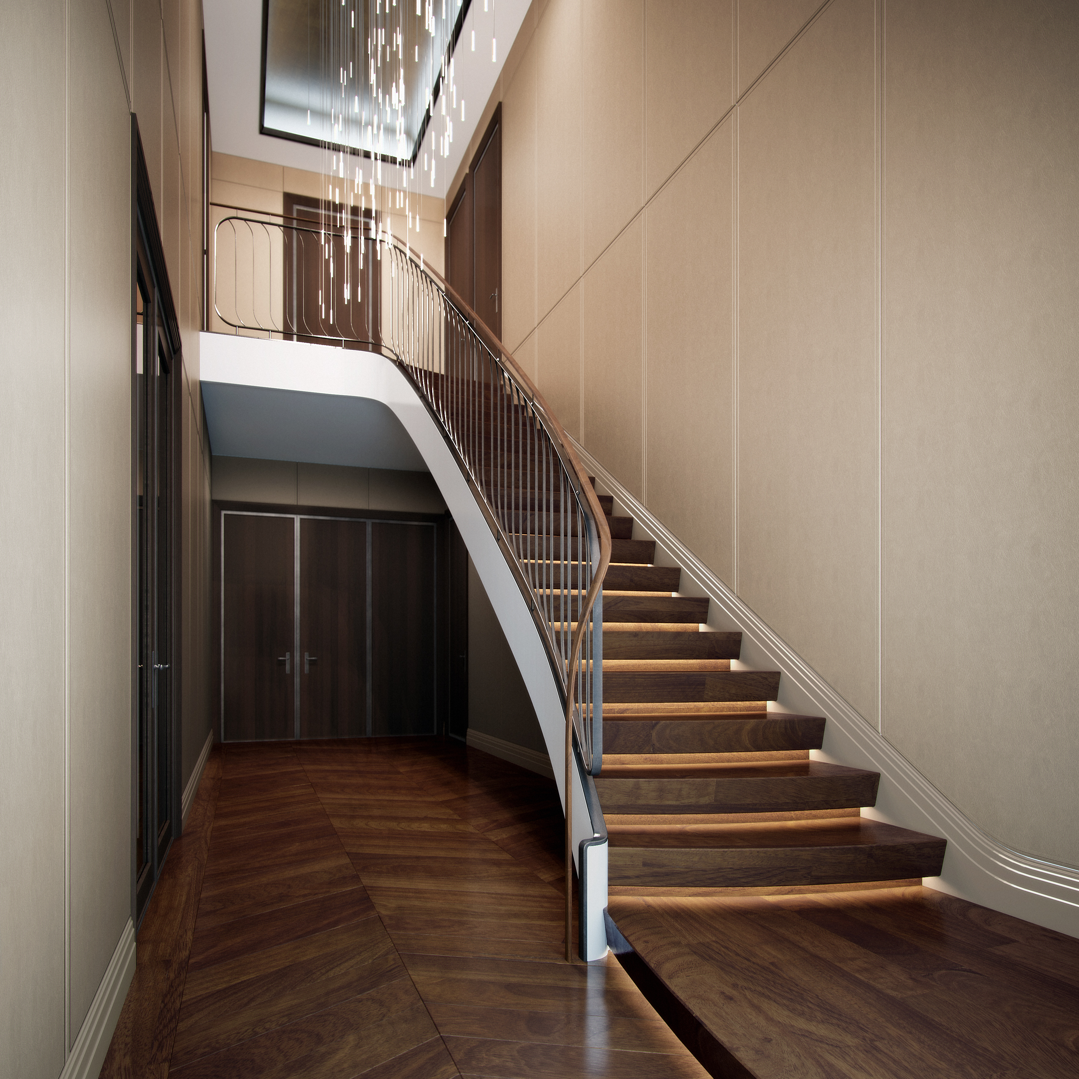 london condos - duplex stair