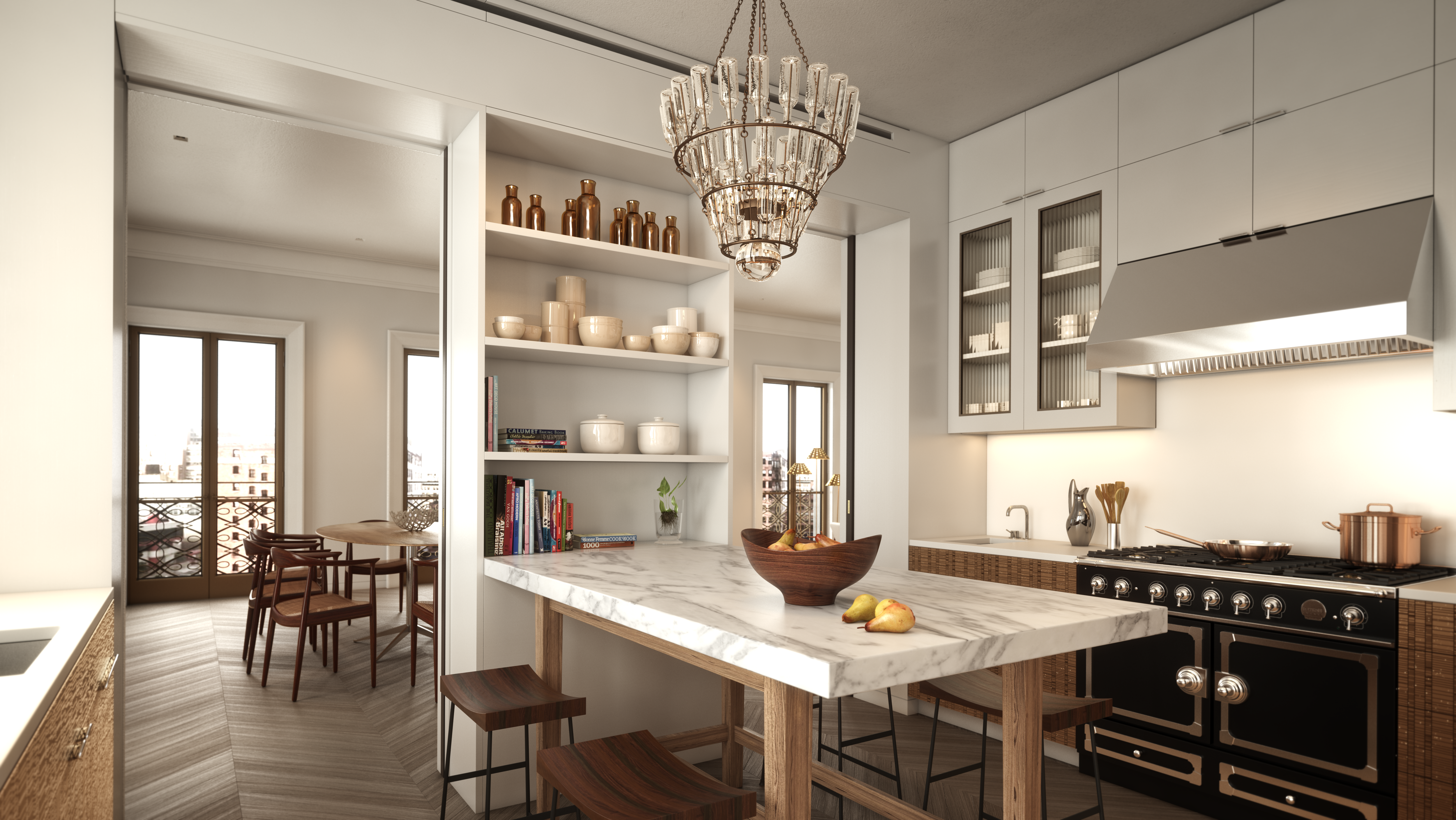 tribeca condos - kitchen
