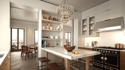 tribeca condos - kitchen
