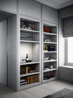 condo 3 - library bar niche