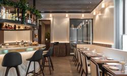 sette london - bar seating detail 2