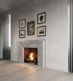 condo 3 - living room fireplace