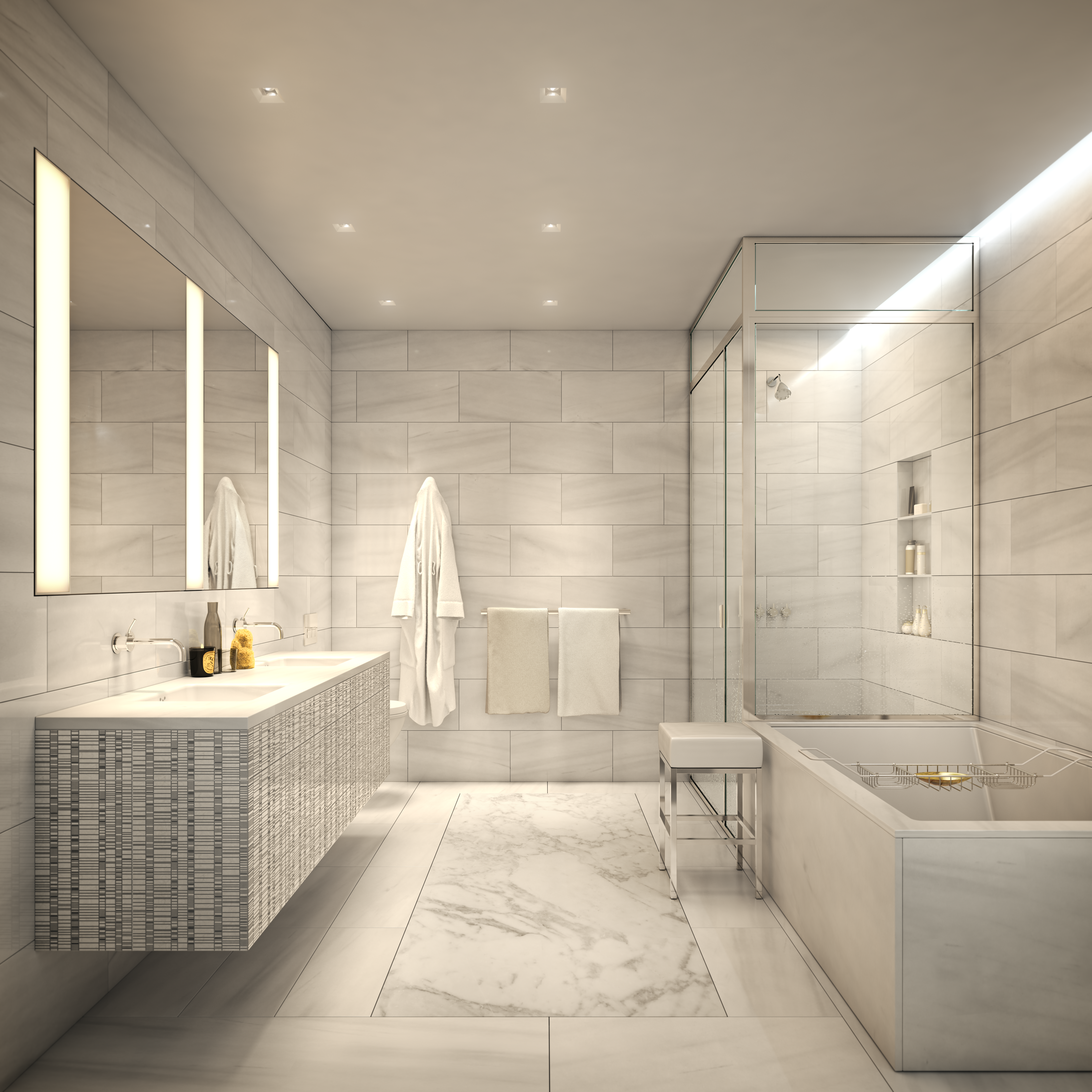 tribeca condos - master bathroom 2