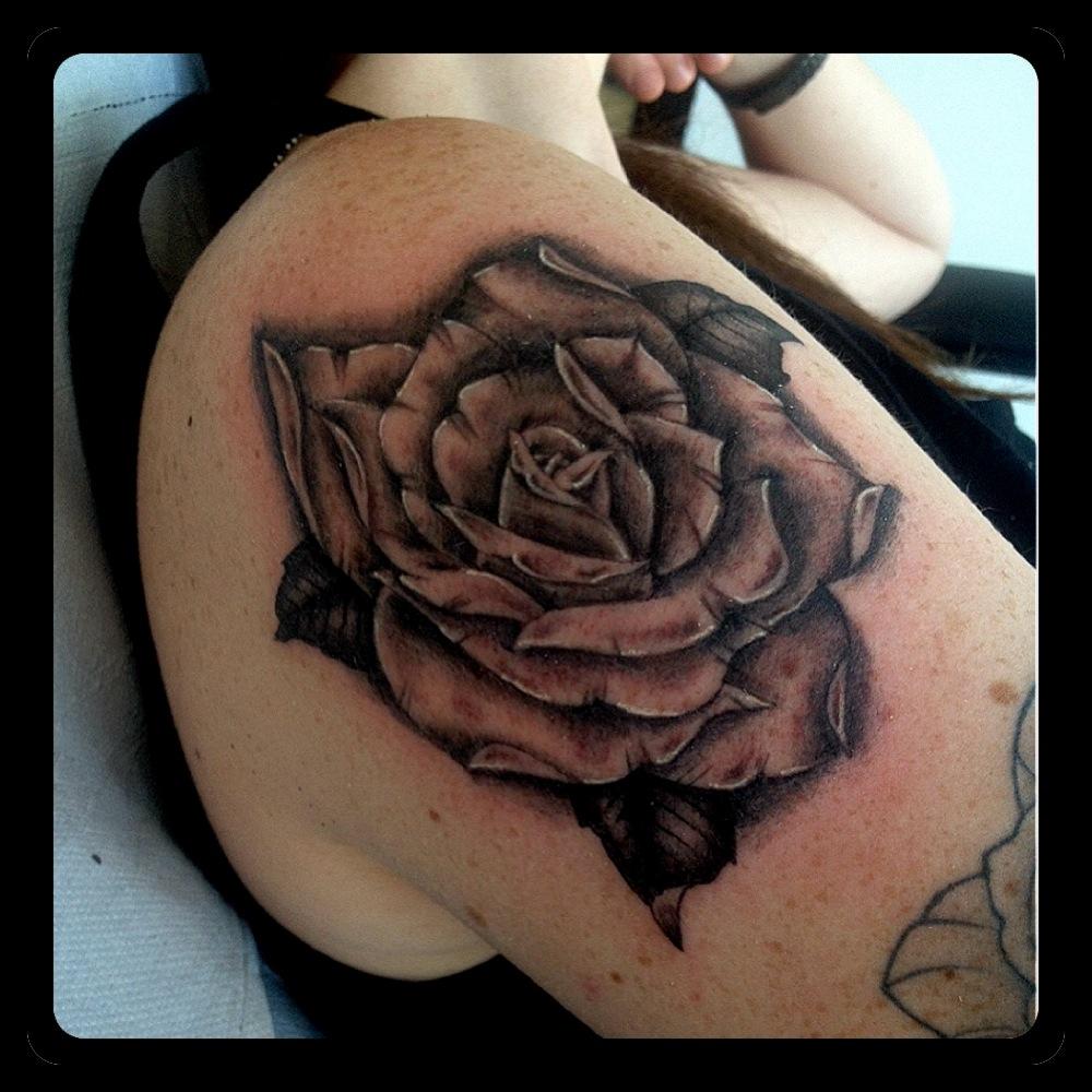InkDiamond rose tattoo