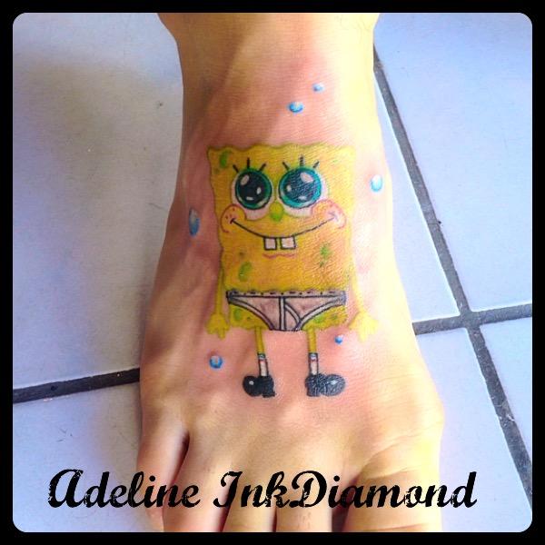 inkdiamond tattoo bob l'eponge