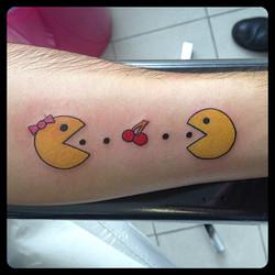 InkDiamond pacman cerise tattoo