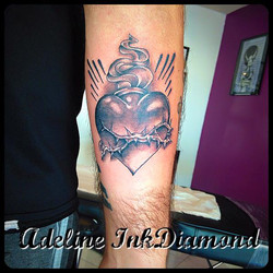 InkDiamond sacré coeur tattoo
