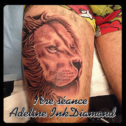 InkDiamond by Lilybird lion tattoo