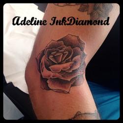 InkDiamond rose diamant tattoo