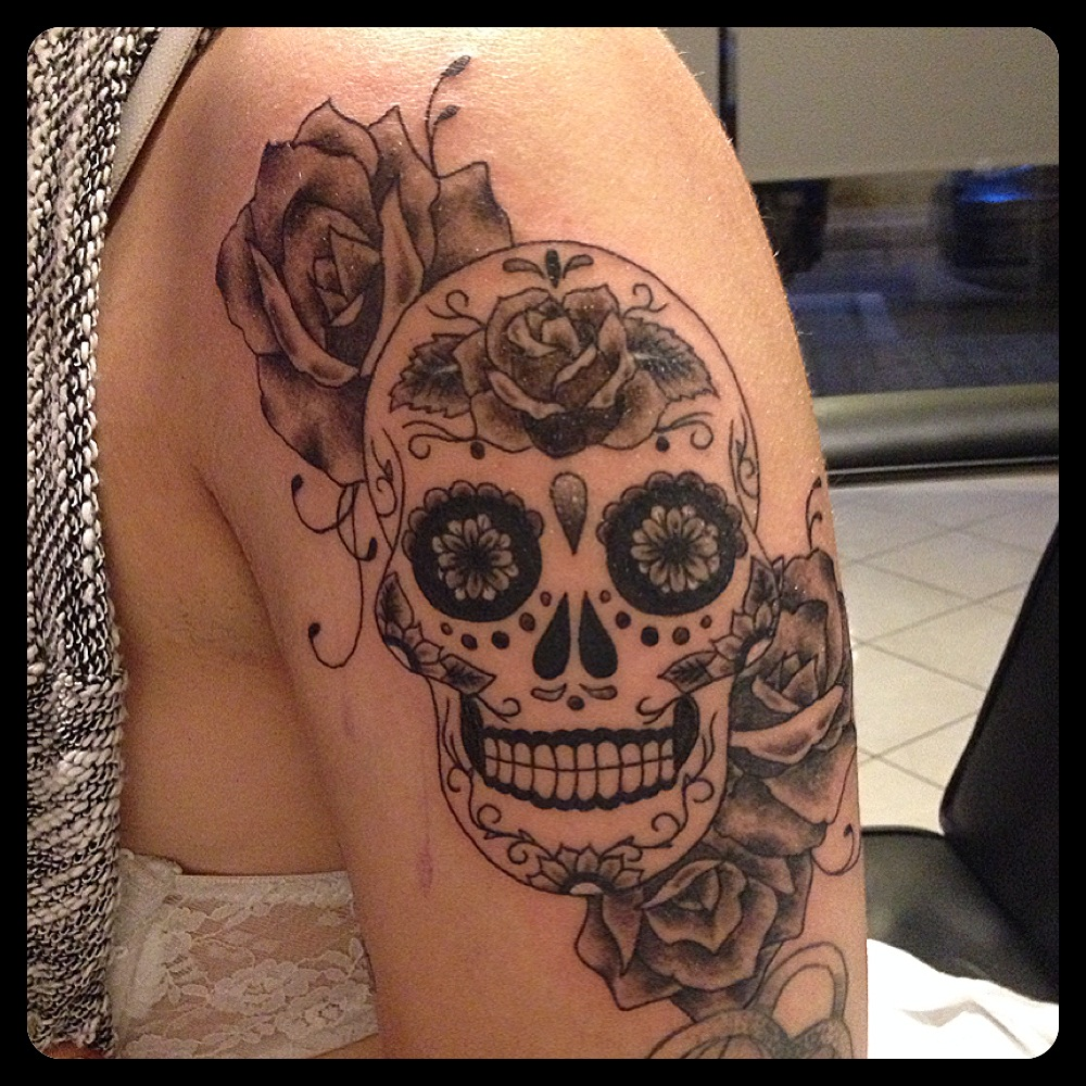 InkDiamond suger skull tattoo