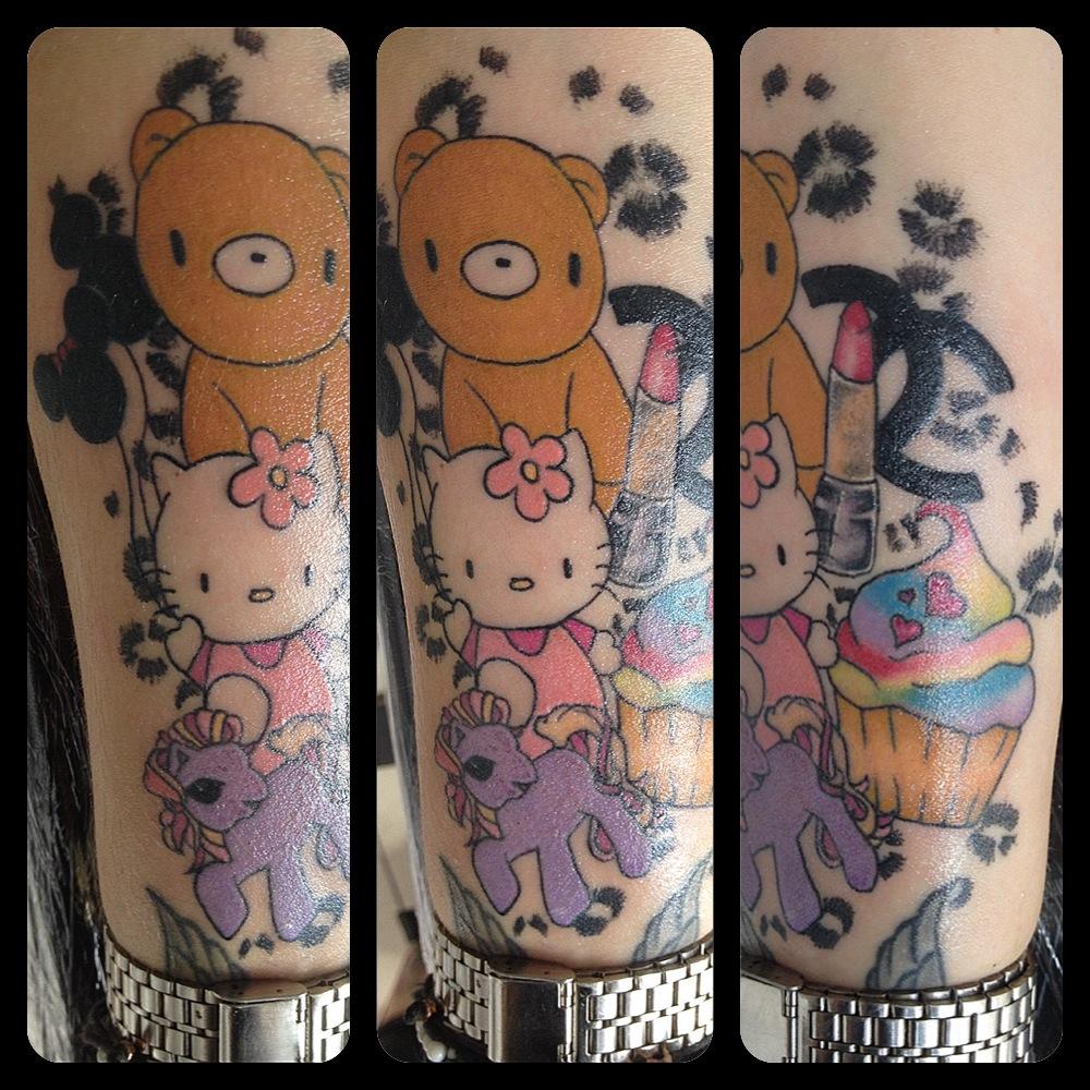 InkDiamond hello kitty tattoo