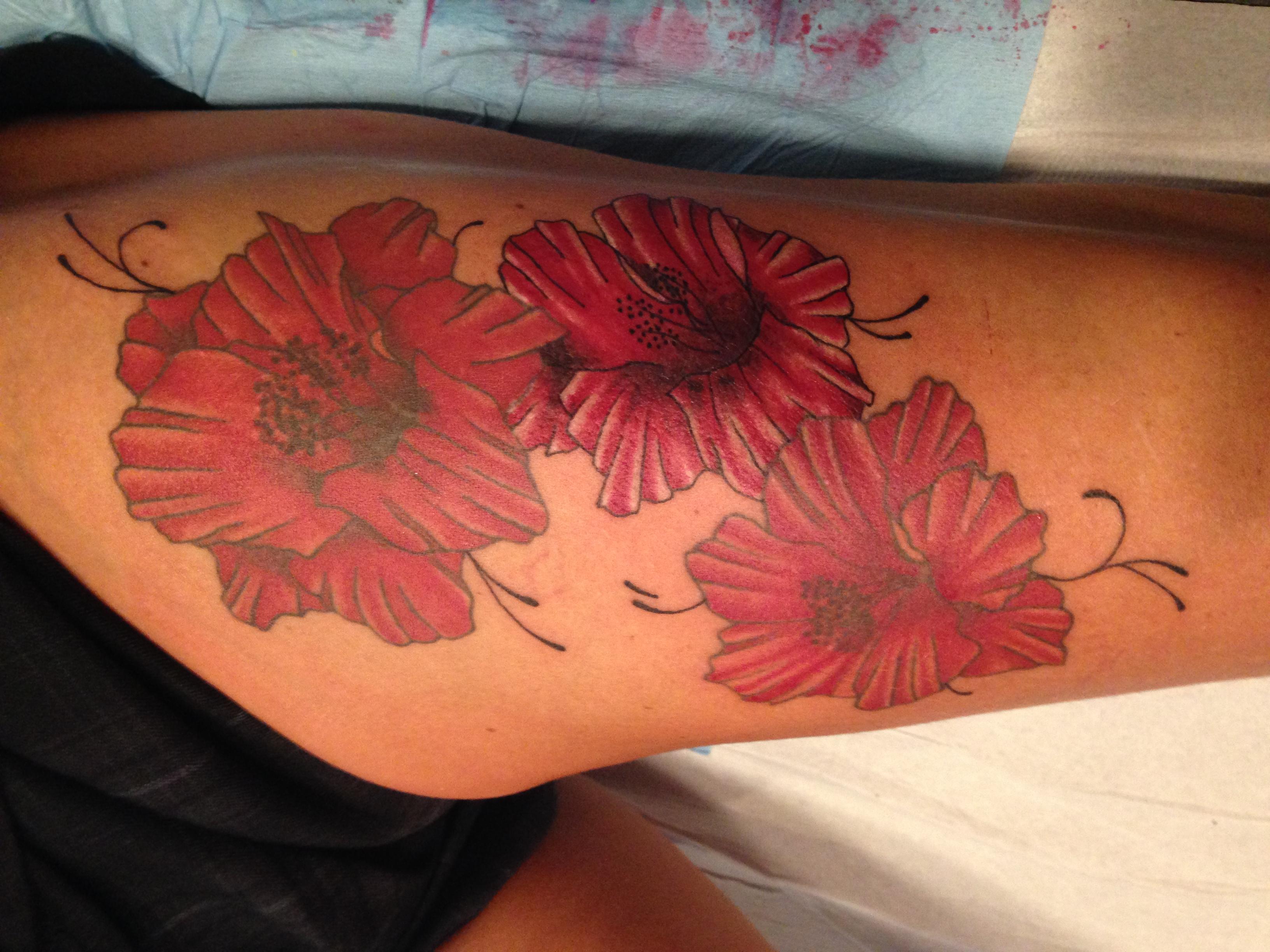 InkDiamond hibiscus tattoo