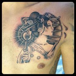 InkDiamond geisha tattoo