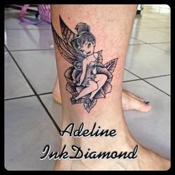 InkDiamond fee clochette tattoo