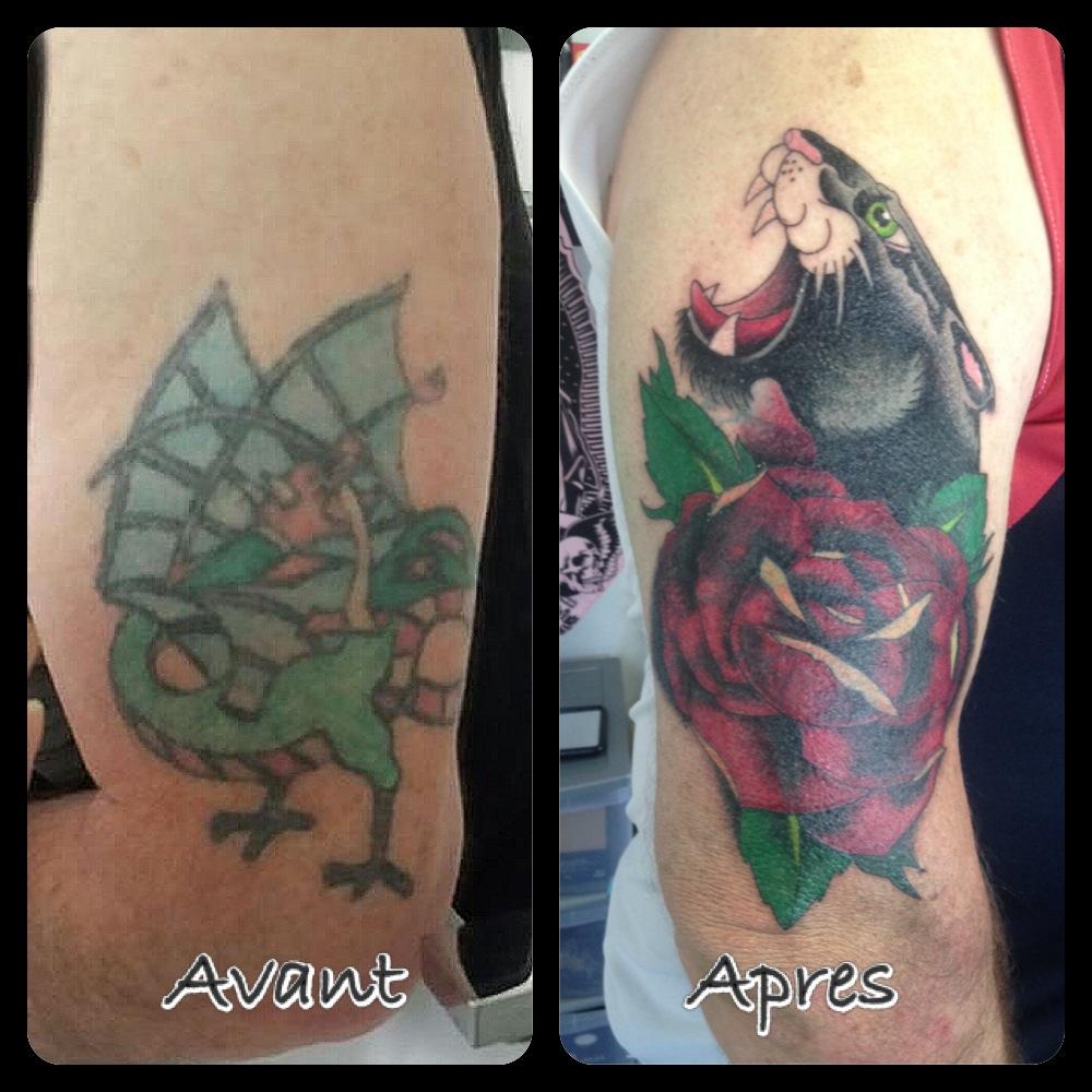 InkDiamond cover tattoo