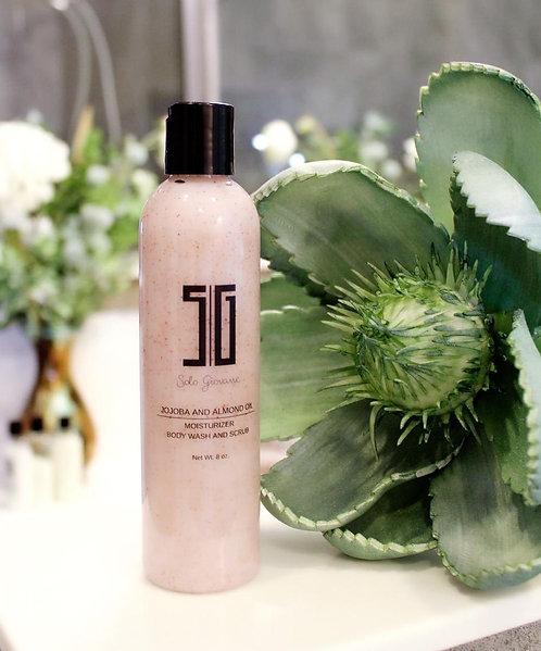 Jojoba and Almond Oil Moisturizer Body Wash and Scrub