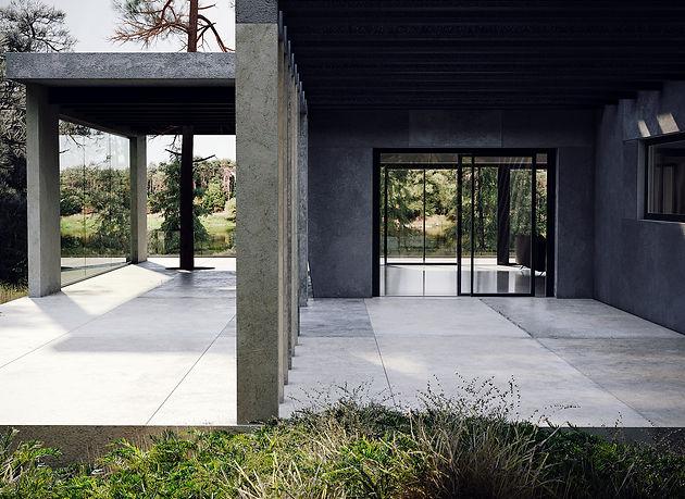 особняк, дом, зал, лес, интерьер, дизайн, архитектура, коттедж, загородный дом,