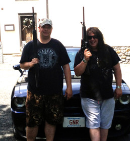 My Dear friend BJ and I go shooting