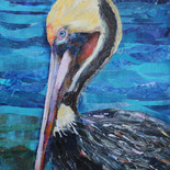 Painted Paper Pelican