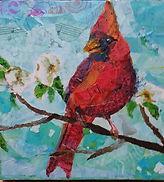 Cardinal/dogwood collage