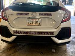 2017 Honda Civic Rear View NOLA Driving