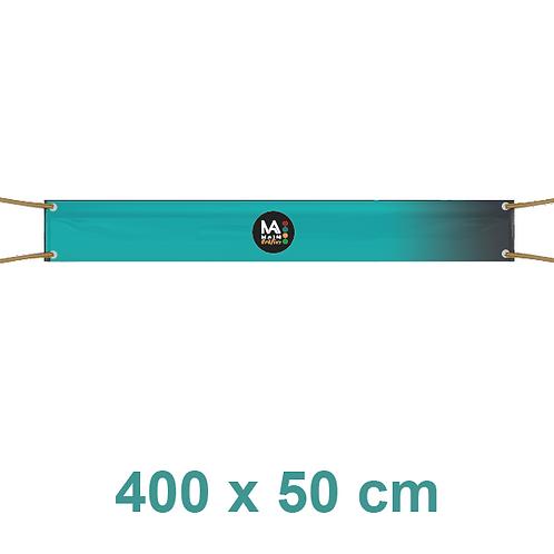 Pancarta 400x50cm