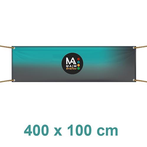 Pancarta 400x100cm