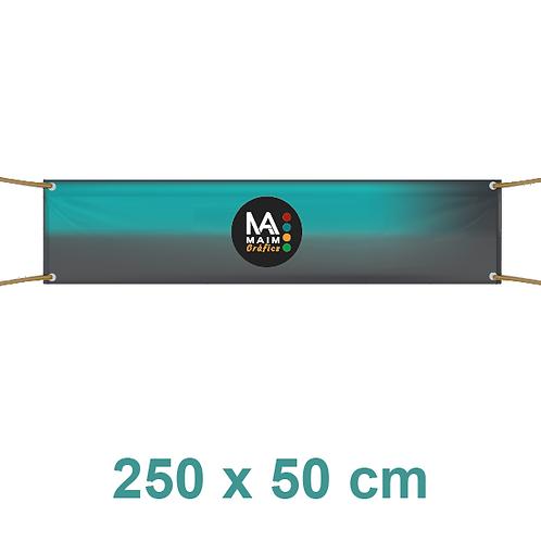 Pancarta 250x50cm