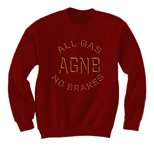 AGNB Sweater - Crimson