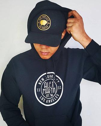 Black Alex Martin Hoodie w/ white logo