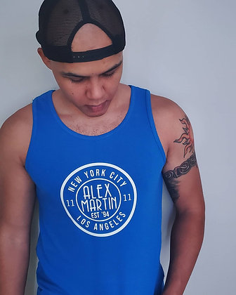 Blue Alex Martin Tank Top