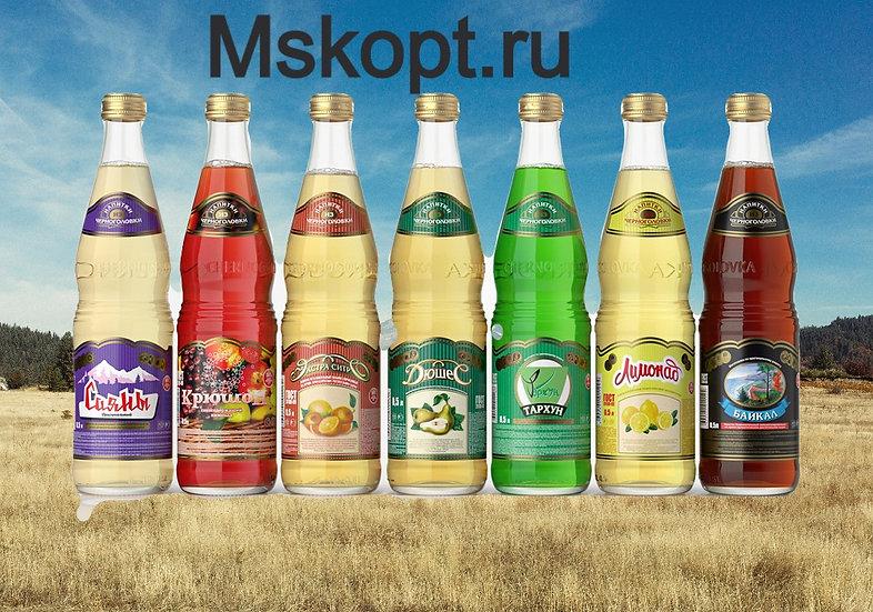 """Лимонад """"Черноголовка"""" стекло бутылка"""