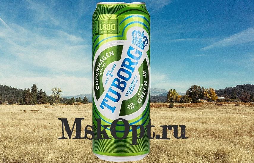 """Пиво """"Туборг Green"""" (12 шт.) ж/б 0,9 л., шт"""