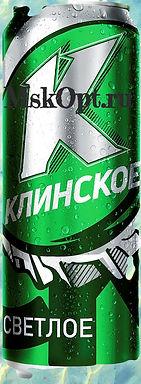 """Пиво """"Клинское Светлое"""" (25шт.) ж/б 0.5л"""