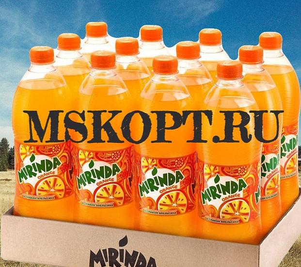 """Лимонад """"Миринда 1 литр"""" упаковка из 12 шт. бутылок"""