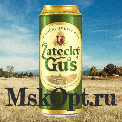 "Пиво ""Жатецкий Гусь"" (24 шт.) ж/б 0,45 л."