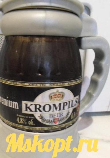 """Пиво """"Krompils ПРЕМИУМ"""" светлое пастеризованное."""