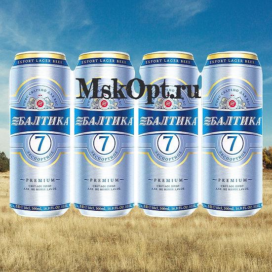"Пиво ""Балтика №7 Экспортное"" (24шт.) ж/б 0.45л"