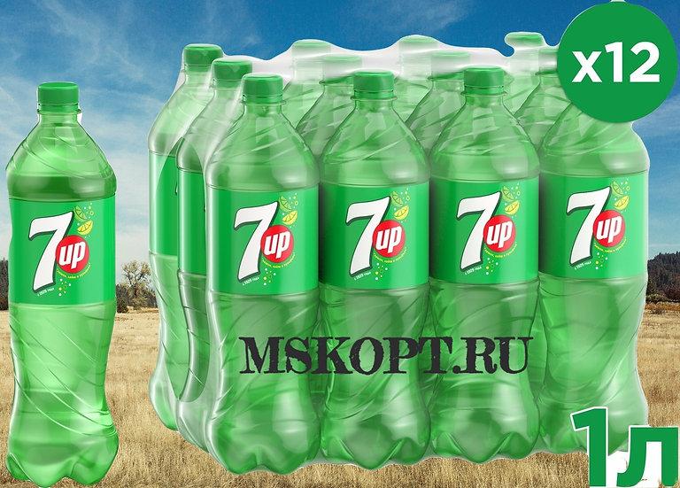 Лимонад,7up,ПЕТ,1 литр,цена 35 рублей